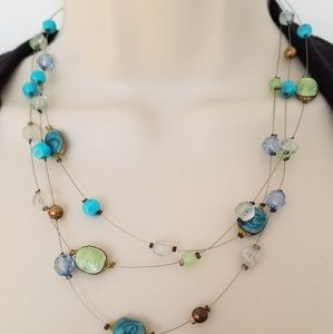 Delicate and unique! Blue/green necklace
